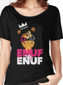 ENUF is ENUF_Black Women's Relaxed Fit T-Shirt