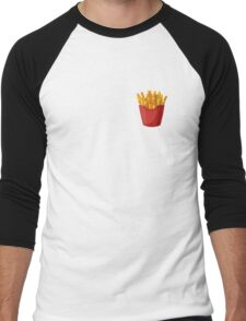 French Fries Graphic Men's Baseball ¾ T-Shirt