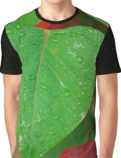 Water droplets on leaves Graphic T-Shirt