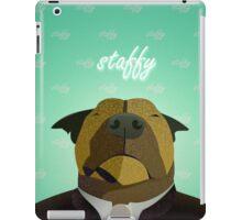 Woof Woof - Staffy Dog Pattern iPad Case/Skin