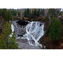 Waterfall in Northern Michigan Photographic Print
