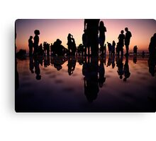 cloudy people in the pink Canvas Print