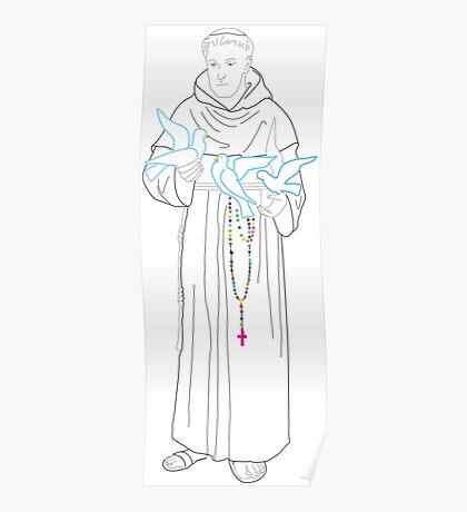 saint francis  high rosary Poster