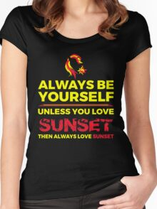 Always Love Sunset Women's Fitted Scoop T-Shirt