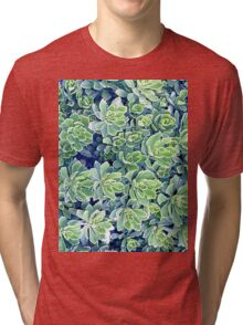 Flowers background Tri-blend T-Shirt