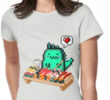 Dinomaru 8-Bit Sushi Feast Womens Fitted T-Shirt