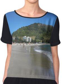 Summer at Mount Maunganui beach Chiffon Top