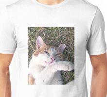 Cat smiling Unisex T-Shirt