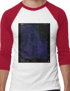 USGS TOPO Map California CA Sattley 300345 1981 24000 geo Inverted Men's Baseball ¾ T-Shirt