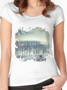 Trees in Mist Women's Fitted Scoop T-Shirt