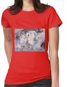Winter Faces Womens Fitted T-Shirt