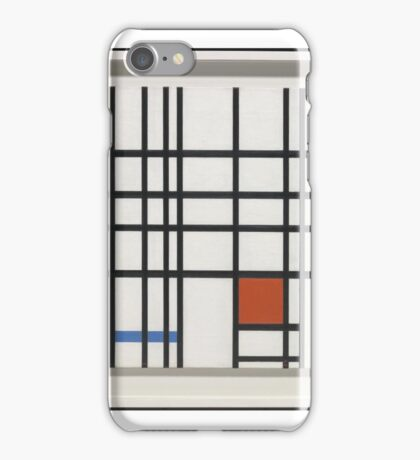 Piet Mondrian    Composition with Yellow, Blue and Red,  iPhone Case/Skin