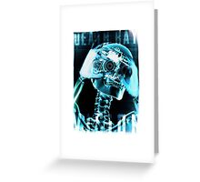 Cool,  street tough, fashionable X Ray T-Shirt Greeting Card