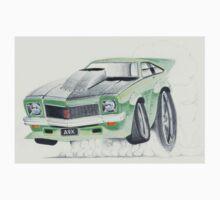Holden Torana A9X-Burnout by Glens Graphix Kids Tee