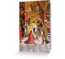 Painting of the Seefeld Eucharistic Miracle Greeting Card
