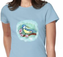 BLUE TIT TEE SHIRT/KIDS CLOTHES/STICKER PHONE CASE/TABLET Womens Fitted T-Shirt