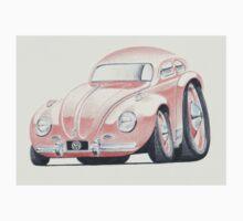 VW Beetle in Pink by Glens Graphix Kids Tee