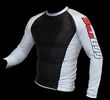 White Ranked Rashguard by Ericyork