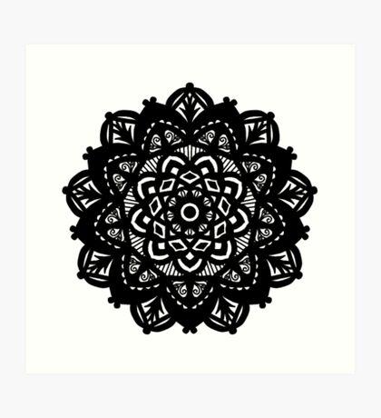 Caroline Mandala  Art Print