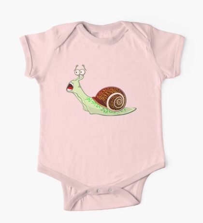 Scared Snail One Piece - Short Sleeve