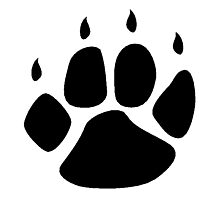 Pawprint Silhouette Photographic Print