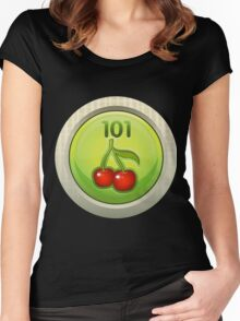 Glitch Achievement entrylevel fruit tree harvester Women's Fitted Scoop T-Shirt