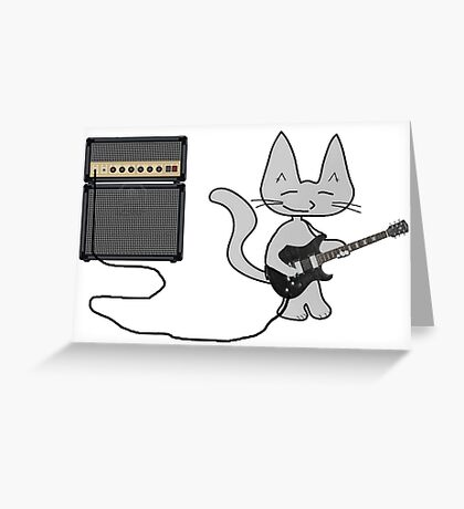 "Rock ""n"" Roll Kitty  Greeting Card"