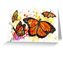 Watercolor Monarch Butterfly 2 Greeting Card