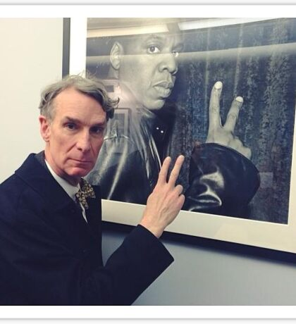 Bill Nye + Jay Z Sticker