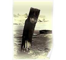 Old Mooring Post Poster