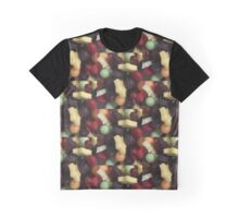 Fruit and Chocolate Graphic T-Shirt