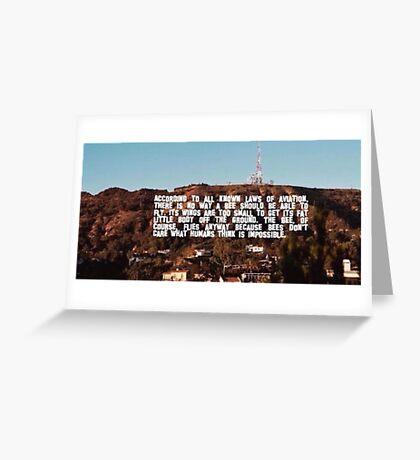 Bee Movie Meme Hollywood Greeting Card