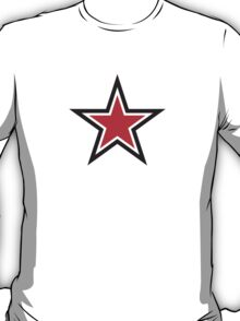 RED STAR with outline Command T-Shirt