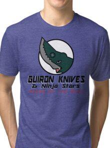 Guiron Knives & Ninja Stars Tri-blend T-Shirt