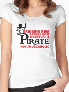 Drinking rum before 10am like a pirate Women's Fitted Scoop T-Shirt