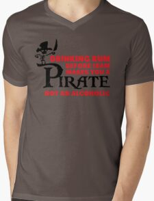Drinking rum before 10am like a pirate Mens V-Neck T-Shirt