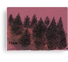 Amoung the pines Canvas Print