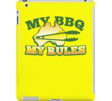 MY BBQ (barbecue) MY RULES Aussie Australian flag and tongs iPad Case/Skin