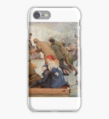 Robert Barnes, ARWS ()  A Merry-Go-Round on the Ice iPhone Case/Skin