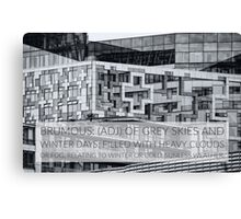 Brumous definition on photograph of the iconic Cube Birmingham UK Canvas Print