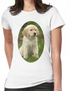 Cute Golden Retriever Puppy Womens Fitted T-Shirt