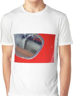 Vintage red car detail of interior seen from the back window Graphic T-Shirt