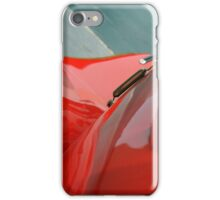 Detail of classic shining red car iPhone Case/Skin