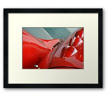 Detail of classic shining red car Framed Print