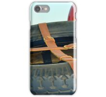 Spare car wheel with leather belt  iPhone Case/Skin