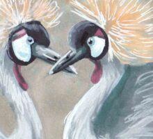 Grey Crowned Cranes Sticker