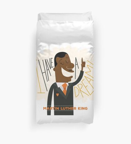 Illustrating the Dream by Martin Luther King Duvet Cover