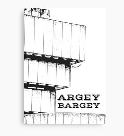 Argey Bargey Brummie saying on Photograph of the Birmingham Library Canvas Print