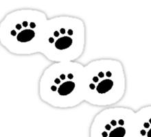 Animal Tracks Silhouette Sticker