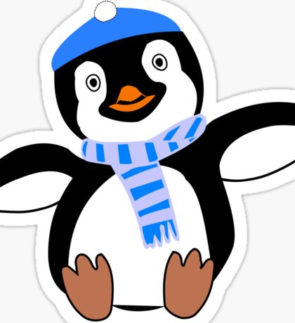 Pinguin im Winter comic art style Sticker